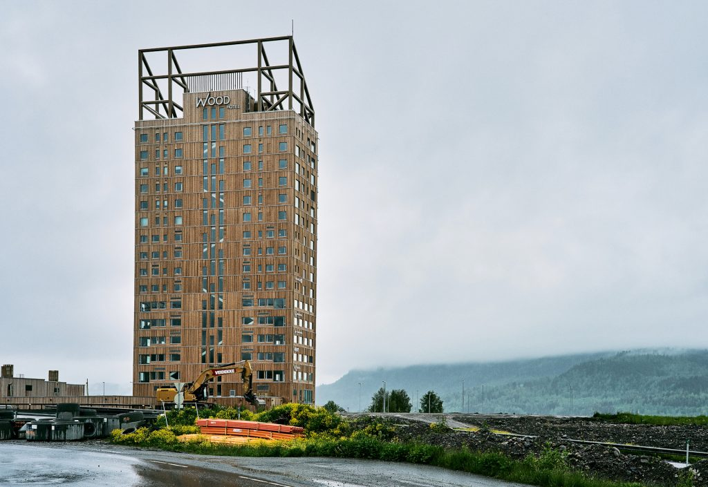 Plyscrapers: a resurgence in timber framed buildings, even for skyscrapers. Photo credit: By Øyvind Holmstad - Own work, CC BY-SA 4.0, https://commons.wikimedia.org/w/index.php?curid=79435356
