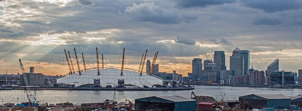 The Greewich Peninsula Design District is sited to the south of more contentious developments such as the Millennium Dome (now O2 Arena)